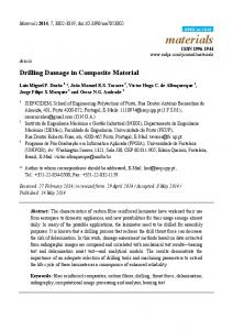 Drilling Damage in Composite Material - MDPI