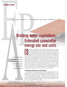 Drinking water regulations - American Water Works Association