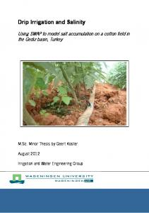 Drip Irrigation and Salinity