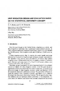 drip irrigation design and evaluation based on the ...