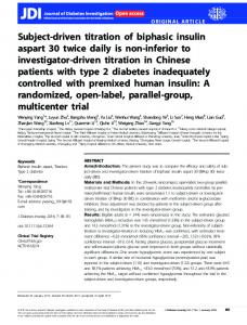 driven titration of biphasic insulin aspart - Wiley Online Library