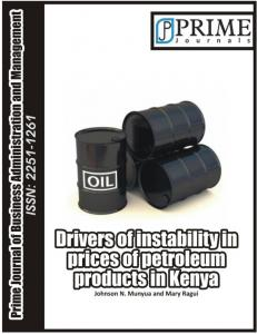Drivers of Instability in Prices of Petroleum Products ... - Prime Journals
