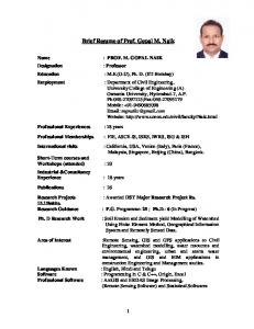 Dr.M.Gopal Naik. - University College Of Engineering Osmania ...