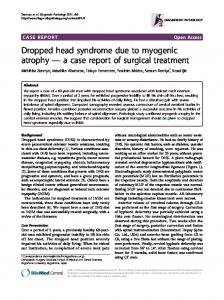 Dropped head syndrome due to myogenic atrophy