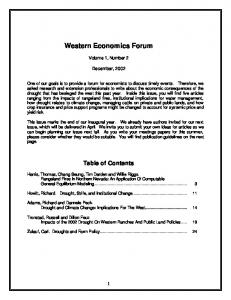 Drought and Climate Change - Western Agricultural Economics ...