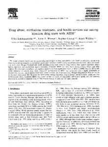 Drug abuse, methadone treatment, and health services use among ...