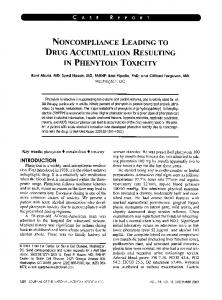 drug accumulation resulting in phenytoin toxicity - NCBI