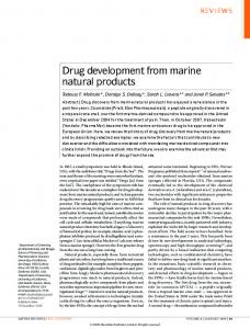 Drug development from marine natural products
