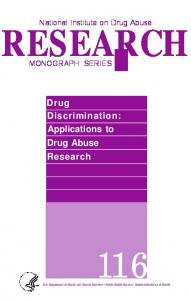 Drug Discrimination - Archives - National Institute on Drug Abuse