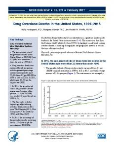 Drug Overdose Deaths - CDC