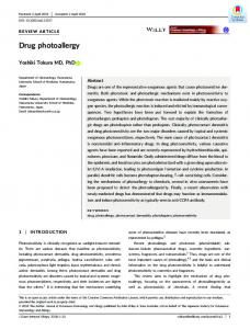 Drug photoallergy - Wiley Online Library