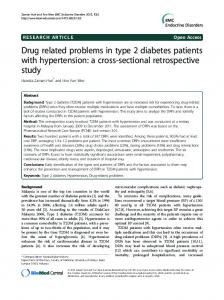 Drug related problems in type 2 diabetes patients ... - BioMedSearch