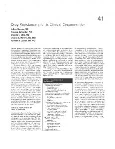 Drug Resistance and its Clinical Circumvention
