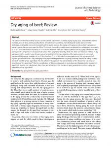 Dry aging of beef; Review - Semantic Scholar