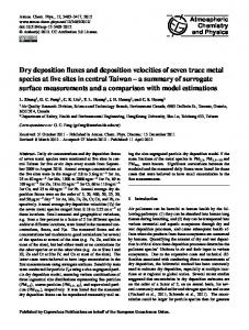 Dry deposition fluxes and deposition velocities of ... - Atmos. Chem. Phys