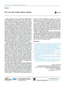 Dry eye and ocular surface disease - Saudi Journal of Ophthalmology