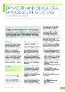 dry mouth and clinical oral dryness scoring systems
