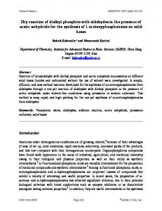 Dry reaction of dialkyl phosphite with aldehydes in the ... - Arkivoc