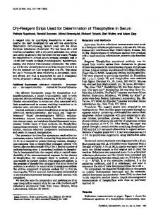 Dry-ReagentStripsUsed for Determinationof ... - Clinical Chemistry