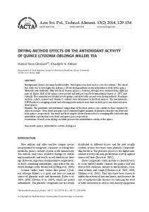 Drying method effects on the antioxidant activity of ... - Semantic Scholar