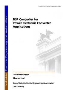 DSP Controller for Power Electronic Converter Applications Daniel ...