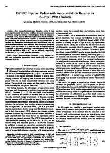 DSTBC Impulse Radios with Autocorrelation Receiver in ... - IEEE Xplore