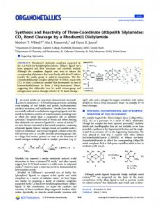 (dtbpe)Rh Silylamides: CO2 Bond Cleavage by a Rhodium(I)