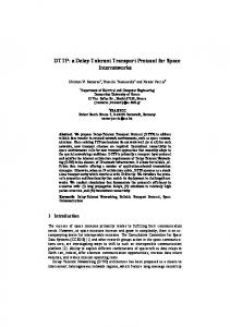 DTTP: a Delay-Tolerant Transport Protocol for