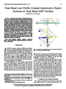 Dual-Band Low-Profile Crossed Asymmetric Dipole Antenna on Dual ...