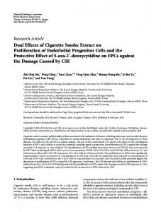Dual Effects of Cigarette Smoke Extract on Proliferation of Endothelial