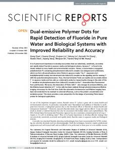 Dual-emissive Polymer Dots for Rapid Detection of Fluoride ... - Nature