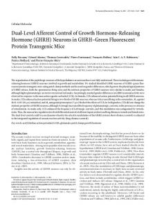 Dual-Level Afferent Control of Growth Hormone-Releasing Hormone ...