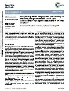 Dual polarity MALDI imaging mass spectrometry on ...