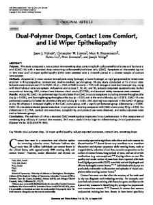 Dual-Polymer Drops, Contact Lens Comfort, and ... - Semantic Scholar
