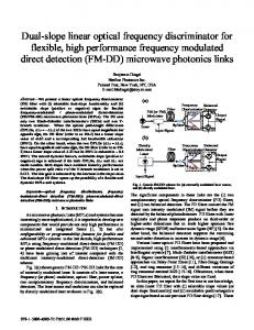 Dual-slope linear optical frequency discriminator for