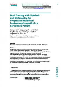 Dual Therapy with Cidofovir and Mirtazapine for ... - BioMedSearch