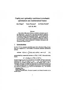 Duality and optimality conditions in stochastic optimization and