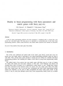 Duality in linear programming with fuzzy parameters