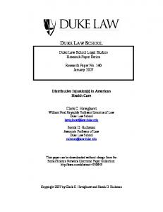 duke law school - SSRN papers