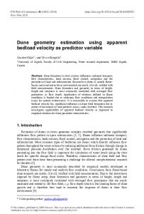 Dune geometry estimation using apparent bedload velocity as ...www.researchgate.net › publication › fulltext › Dune-geo