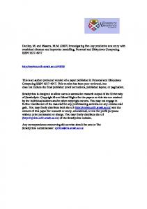 Dunlop, M. and Masters, MM (2007) Investigating five key ... - CiteSeerX