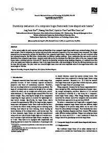 Durability evaluation of a composite bogie frame with bow-shaped ...
