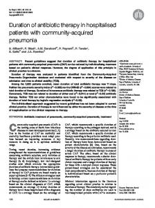 Duration of antibiotic therapy in hospitalised patients with community ...