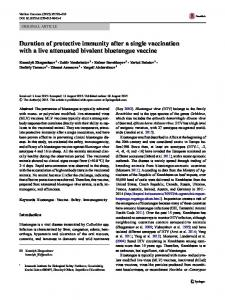 Duration of protective immunity after a single ... - Springer Link