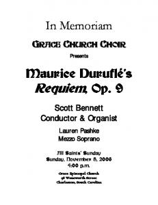 Durufle Requiem - Grace Episcopal Church
