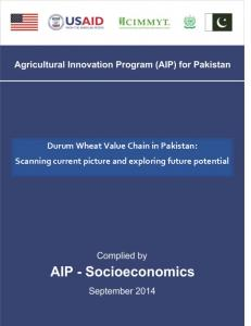 Durum wheat value chain in Pakistan