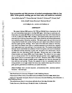 Dust properties and disk structure of evolved protoplanetary disks in ...