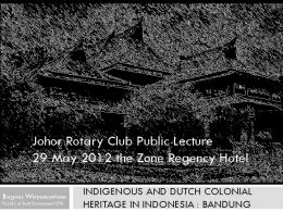 Dutch Colonial Heritage in Indonesia