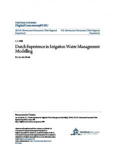 Dutch Experience in Irrigation Water Management ...