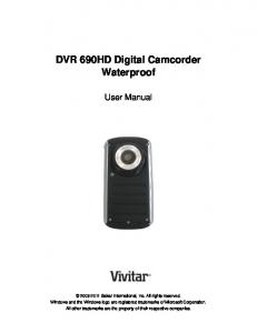 DVR 690HD Digital Camcorder Waterproof - Vivitar